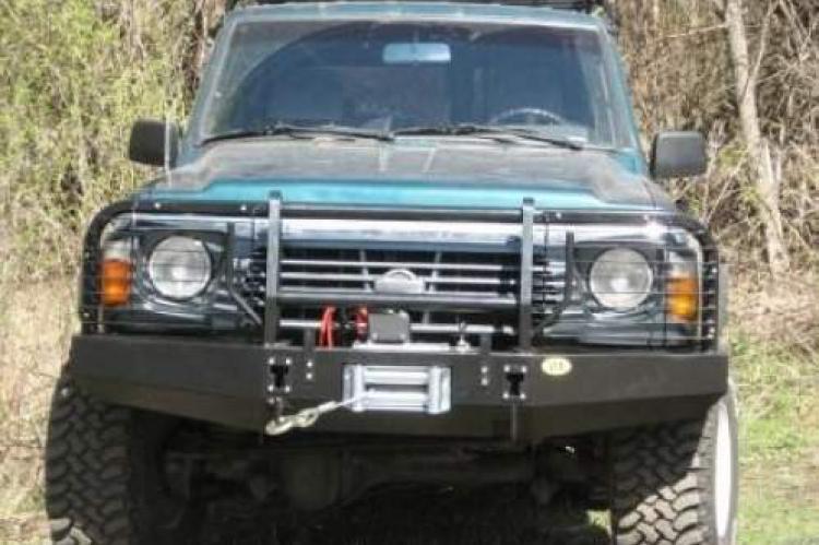 Передний стальной бампер под лебёдку для Nissan Patrol Y60 белгород псков брянск