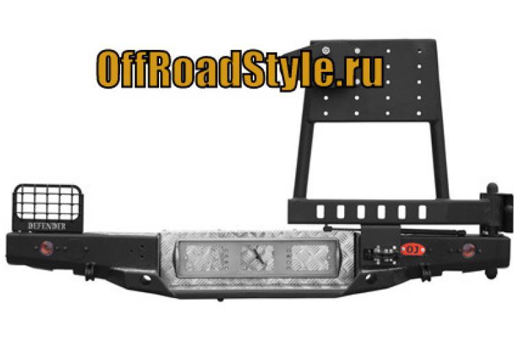 Задний стальной бампер с калиткой Land Rover Defender белгород дилер псков курск