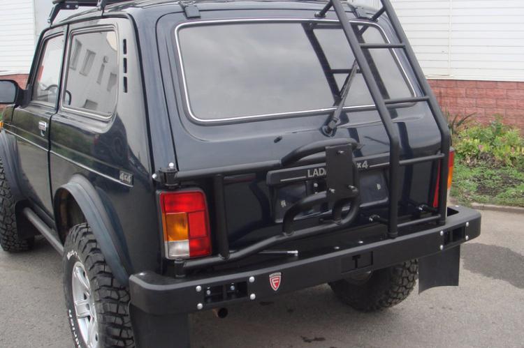 Задний силовой бампер с калиткой под запаску Lada4x4 ф дизайн белгород курск уфа