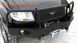 Бампер передний усиленный с площадкой лебёдки для УАЗ Патриот,Пикап курск казань